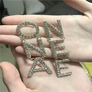 Avere timbro moda lettera hoop diamante doppio orecchini in oro aretes orecchini per donne party wedding lovers regalo gioielli fidanzamento con scatola