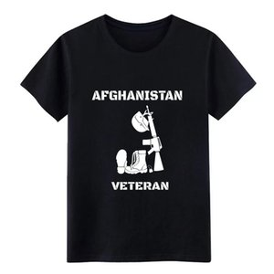 Afghanistan veterano veterano dell'Afghanistan progettista manica corta Euro Size 3XL solido edificio Sport Felpa con cappuccio maglietta sveglia di base