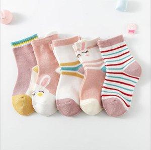 Meias infantis de média de alta qualidade Meias Unisex Baby Cor Sólida Meias confortáveis de algodão, embalagens requintadas EWC3264