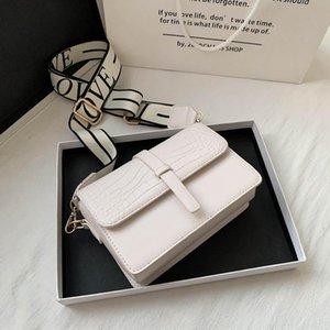 Сумки на ремне 2021 Сплошной цвет Простой крокодил Pattern Женская сумка Messenger Bag Fashion Square для женщин Bolsos Para Mujer