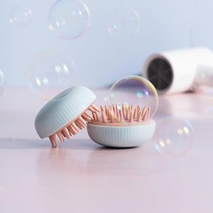 Silicone Head Massager Shampoo Scalp Massage Brush Hair Washing Comb Body Shower Brush Bath Spa Slimming Massage Brush