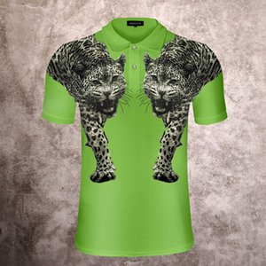 tiger Polo shirts Mens fashion crystal clothing short sleeve skull calssic t-shirt High Quality Black white green Business Casual tops tee