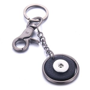 Bouton Cuir Keychain Keychain Keychains Fit Diy 18mm Snap Buttons Bijoux Bijoux Unisexx Lanyard Cadeau de Noël Q BBYBWZ