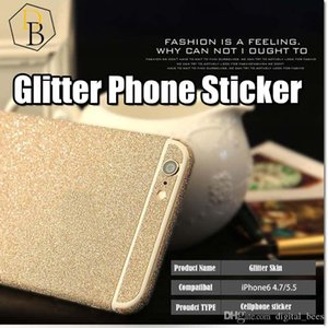 For Iphone 7 plus Glitter Skin Sticker Bling shinning Protector for I7 Samsung Galaxy s7 edge NOTE 7 full body film Colorful case