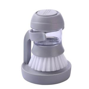 Kitchen Cleaning Brushes Dishwashing Brush Automatic Liquid Addition Lazy Dishwashing Tool Kitchen Brushes 2 Color YYS3983