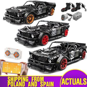 20102 Technic Car 1965 Fords Mustang Hoonicorn V2 1:8 Car Compatible With MOC-22970 Muscle Car Building Blocks Kids Toys Gifts 1008