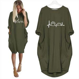 2020 New Fashion shirts Dog Cat Heart Print Tops Plus Size Tshirt Funny clothing Kyliejenner Rock tshirt women plus size
