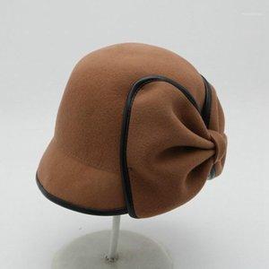 Cappello da donna Fedora Cappello decorato Fedora Femmina Berretto Fisherman Hat1