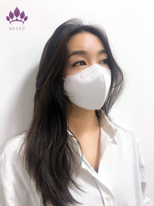 MESSO new product 5 Layer KN95 FFP2 Face mask certificate soft non-woven fthat considers even the skin Best technology and high quality prof