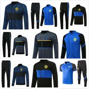 Kids Utd Tracksuit Station Set Set City Football Jacket Kit Football Chandal 18 19 20 21 Inter Collaille de pull de pantalon d'entraînement