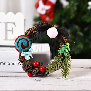 10x10cm Round Natural Rattan Wreath Stem Branch Ring Garland For Wedding Birthday Party Decor Supplies Christmas Gift 1 PCS