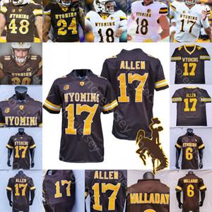 Personalizado 2020 Wyoming Football Jersey NCAA College Josh Allen Xazavian Valladay Levi Williams Isaiah Neyor Bertagnole Charles Hicks Jones