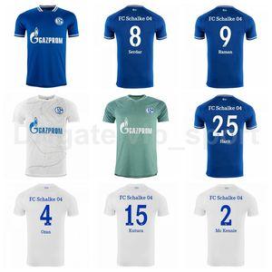 20 21 Schalke 04 Jersey Soccer Raman Serdar Bentaleb Caligiuri Ozan Harit McKennie Uth Kutucu Burgstaller Matondo Football Shirt Kits
