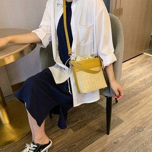 Handbags Messenger Woven 2020 New Fashion Portable Luxury Bucket Tide Designer Shoulder Straw Bag