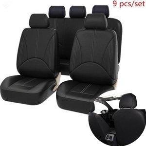 Универсальный автомобиль PU кожаный полный набор автомобильные сиденья охватывает высококачественные задние ведра крышка сиденья авто внутренняя защитная крышка 1