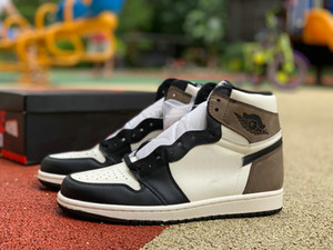 Dark Travis Scott 1 High 1s Sail Black Mocha Cactus Jack Mens Basketball Shoes Fashion Designer Outdoor Sports Mans Sneakers