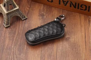 Designer-Custom made - black Python key case (Contact us before place order)