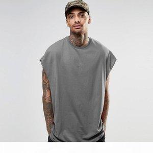 Diseñador para hombre Designer Sin mangas Tshirts Casual Murciélago de manga Tops de verano Hiphop Hombre High Street Flow T Shirts