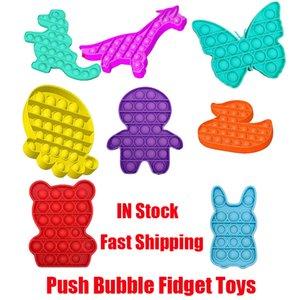 Push Bubble Fidget Toys Autisme Besoins spéciaux Stress Stress Stress Aide Soulager le stress et augmenter le jouet de décompression Soft Squeeze.