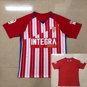 2020 2021 Sporting de Gijon Soccer Jerseys Carmona Mendez Gomez DjurdJevic M.Valiente Cofie Custom 20 21 Home Sporting Gijón Camisa de Fútbol