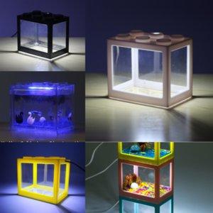 DBC77 Vino Accesorios especiales de peces Calentador de agua Aquarium paisaje Adorno Tanque de pescado Vidrio Lego bloques Tanque Antique Techome Techome Barrel