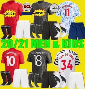 Manchester 20 21 fútbol jerseys Unidos CAVANI van de Beek B. FERNANDES Rashford UTD 2020 2021 HUMANRACE cuarta hombres kit niños camiseta de fútbol