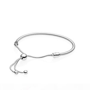 Authentic 925 Sterling Silver Hand rope Bracelets for Pandora Adjustable size Women Wedding Gift Jewelry Bracelet with Original box