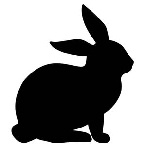 14.2CM*16.1CM Lovely Rabbit Pattern Vinyl Decal Decoration Car Trunk Car Stickers Black Silver C4-1268