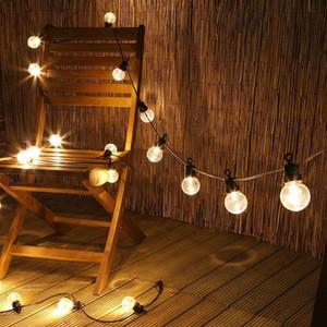 25 Светодиодные лампы Открытый гирлянд Wateproof Connectable фестона Christmas Fairy огни Street Открытый Свадебные украшения партии
