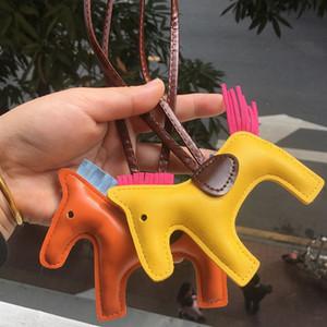 Мода брелок дизайнер PU кожаный брелок лошадка мешок кулон ручной работы ручной работы кожи кисточкой лошадка брелка