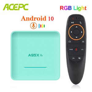 2020 RGB Box Android A95X R5 4 GB 128 GB 4K TV Smart Box TVBOX Rockchip RK3318 dual Wifi 1080P Set Top 64 GB 32 GB