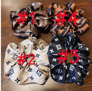 Hair Rubber Bands Printed and bordered hair ring small fresh style hair accessories ponytail hairpin small accessories