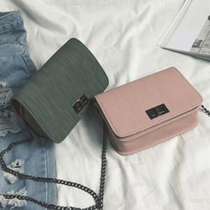 Fashion Simple Small Square Bag Women's Designer Handbag 2019 High-quality PU Leather Chain Mobile Phone Shoulder bags
