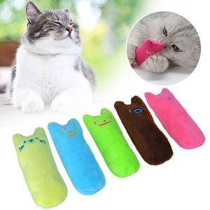 Schleifen Biss Claws Katzen Interactive Pet Toys-Kätzchen-Katze Katzenminze Chewing Daumen Vocal 1pcs Spielzeug Zähne Spielzeug für lustige Mint Plüsch mit DHL versenden