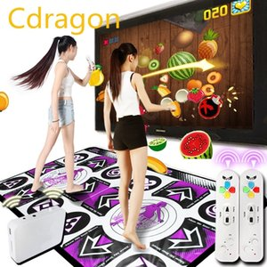 Menú English HD Dance Mat TV doble TV Interfaz de computadora Danza Alfombra Doble jugadores Dancing Machine Yoga Fitness con dos gamepads y200413