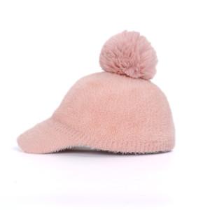 New Fashion Lady Mohair Winter Hat Women Pompom Casual Knit Beanie Warm Berets women's Baseball Cap Wool Visor Bonnet Soft 201019