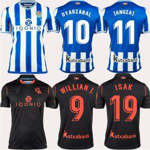 Real Sociedad Oyarzabal Silva Soccer Jerseys 2020 21 Accueil Odegaard Willian J. Camiseta de Fútbol Januzaj Zurutuza Isak Football Shirt