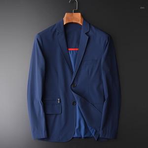 Minglu Men Blazer Fashion Silky Suit Blazer Slim Fit Masculine Casual Solid Suit Male Suits Jacket Plus Size M- L 3XL 4XL1