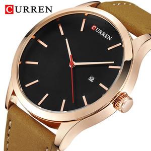 Curren 8214 Moda Simple Men's Watch Top Brand Sports Multifunction Watch Hombre de cuarzo Hombre 3bar impermeable reloj a prueba de golpes reloj