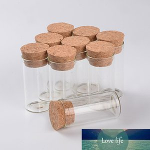 12ml Empty Glass Test Tube Bottles With Cork Stopper Transparent Mini Vials Jars Food Spice Bottles 100pcs Free Shipping