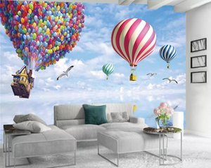 3d Wallpaper For Kitchen Modern Mural 3d Wallpaper Flying Colorful Balloons Interior Decorative Silk 3d Mural Wallpaper