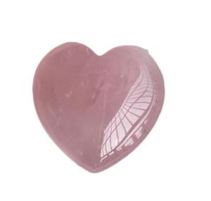 Healing Gife Pink Love Crystal Heart Gems Stone Shaped Lover Carved Natural Rose Palm Crystal Quartz Gemstone Heart sqcpn ppshop01