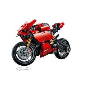 New 646pcs veículo motocicleta Technic Car Set Ducatiied Panigale V4 R Criador Blocos Tijolos ly_bags Diy Kid yxlONB