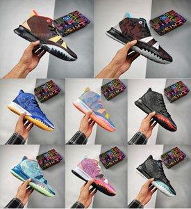 Kyrie 7 Erkek Basketbol Ayakkabı 7'ler Soundwave Sisterhood İfadeler Özel FX Irving Erkek Eğitmenler Spor Spor ayakkabılar Boyut 7-12