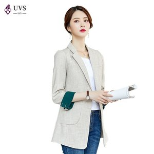 Lenshin Soft and Comfortable Coat with Two Big Pockets for Women Contrast Sleeves Fashion Outwear Casual Jacket Keep Slim Blazer