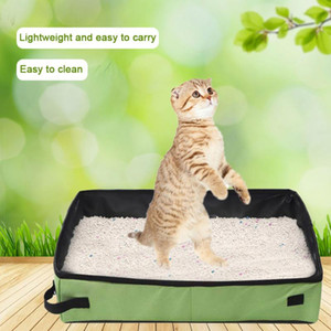 Simple Folding Cat Pet Litter Box Waterproof Outdoor Foldable Portable Travel Toilet For Puppy Cats Dogs Seat Carrier Seat Bag