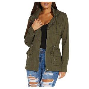 여자 겨울 여성 우편 번호까지 군사 아노락 졸라 매는 끈 긴 코트 재킷 Outwea의 # 40 % 탑