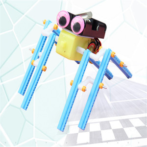 Free shipping technology DIY spider robot science experiment education educational science and education plastic toy with battery