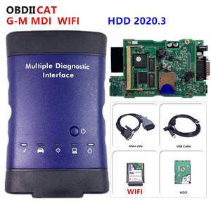M Teşhis Arayüz ile Çok Dilli Tarayıcı - G için G-M V2020.3 OBD2 Teşhis Aracı MDI wifi için DHL MDI Çoklu WIFI