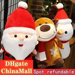 Christmas plush toy cute santa snowman elk doll holiday event gift doll